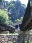 Harper's is in a beautiful spot at the junction of rivers and railroads.  Mountain tunnels and bridges make an enchanting setting for this historic spot.